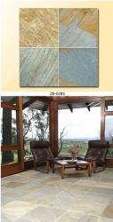 China amarillo mosaico de suelos de pizarra, piedra Tejas para techos/Piso/pared