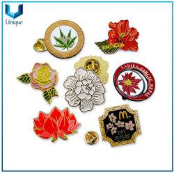 Kundenspezifische Formschmucksachen für Kleid-Hut-Dekoration, Metallblumen-ReversPin für Förderung-Geschenke