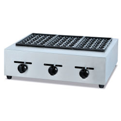 Fish Pellet Grill Machine, Gas Takoyaki Grill, Street Snack Egg Processing Machine