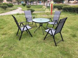 강철 5PCS Moder 가구는 Table+Chairs에 의하여 놓았다