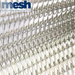 Tissu à mailles de chaîne de convoyeur à courroie métallique décorative