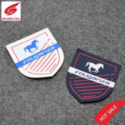 Logo de marque personnalisée découpé au laser pour les vêtements tissés Patch
