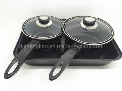 3 parti di Bakeware della vaschetta della casseruola dell'insieme dell'articolo da cucina