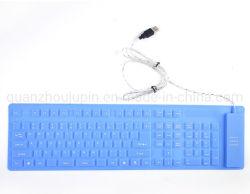 Портативный OEM 104 силиконового ключа USB водонепроницаемый складная виртуальная клавиатура