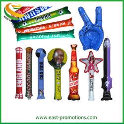 Diseño personalizado promoción balón inflable Stick, PE Vitoreando Stick Stick de Bam Bam