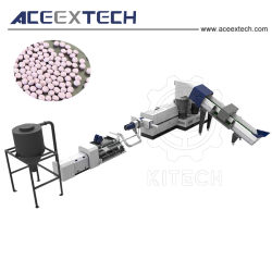 LDPE/HDPE/PP/BOPP/PS/ABS/Pet de Plastic Machine van de Korreling van de Vlok van de Film van de Extruder van het Recycling