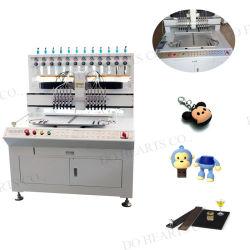 12 цветной мягкой 3D-ПВХ машина силиконового каучука цепочки ключей/крышку USB/молнией съемника/телефон случае производственной линии