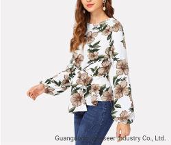 秋または冬の方法編む服装の女性上の綿の女性のブラウスを熱販売しなさい