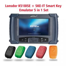 SkeそれとLonsdor K518ISEプログラマーは1個のセットの完全なパッケージに付きスマートな主エミュレーター5個2PCSにLonsdor自由なFT01シリーズトヨタをスマートなキー得る