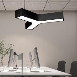 600 мм утюг линейной формы подвесной светильник Y форма управления освещением поддержка пользовательских нестандартные формы светодиодные индикаторы Industrialstyle Sculpt лампы