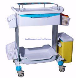 L'hôpital de gros de l'accessoire de chariot de traitement de l'ABS