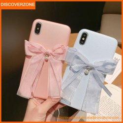Nuova cassa del telefono mobile dell'arco della perla per la cassa Pendant del telefono delle cellule delle ragazze TPU per il iPhone