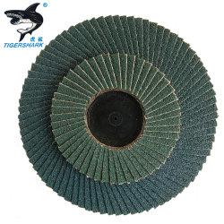 Tipo de disco abrasivo de la trampilla de molienda con el respaldo de fibra de vidrio