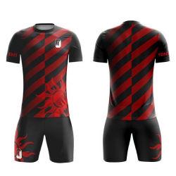 Commerce de gros 100% Polyester impression en sublimation Maillot de soccer vierge pas cher