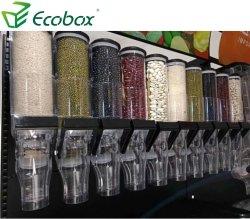 Popular Diseño de la gravedad de los alimentos cereales a granel dispensador para supermercado
