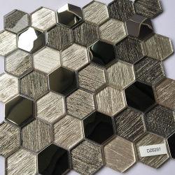 mozaïek van het Glas van de Tegel van het Element van het Metaal van Splashback van de Keuken van 300*300mm Hexagon