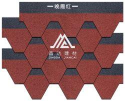 모자이크 6각형 유형 돌은 입히는 아스팔트 기와 유리 섬유 루핑 지붕널을 잘게 썬다
