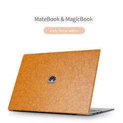 Notebook personalizado em couro de pele notebook portátil protecção abranger os autocolantes