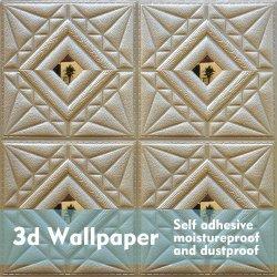 3D обои фо кирпича PE из пеноматериала искусственного водонепроницаемый стенам