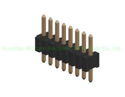 Pinヘッダ1.27mmの単一の列のまっすぐなすくいのタイプH=2.0mmのコネクター