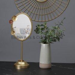 ばねの金属の花表ミラー