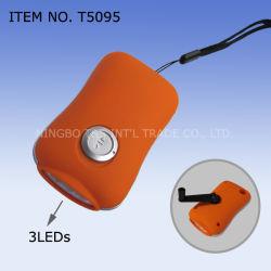 3 LED-Dynamo-Taschenlampe, Dynamo-Fackel (T5095)