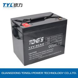 6FM80 12V80Ah batería de plomo ácido libre de mantenimiento de UPS/ sistema de seguridad