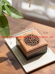 Decoracion personalizada Mini Palo de incienso Quemador de caja de madera de bambú Joss-Stick titular+Tubo de papel de quemador de incienso Lotes de regalo