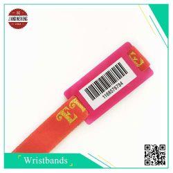 Tissu de code à barres bracelet avec code à barres d'impression