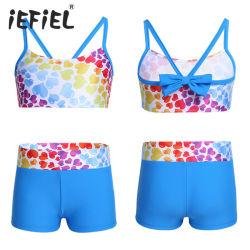 Zwempak Swimwear van het Patroon van de Meisjes van jonge geitjes het Tankini hart-Gevormde