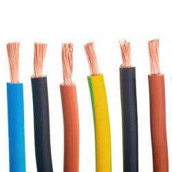 0.5Mm 1.5mm 2mm 2,5 mm Immeuble de la chambre de 4mm Câblage H03VVH2-F H05V-K H07V-U Tw Thw cuivre solide PE isolés de PVC en polyéthylène réticulé à gaine PVC Câble électrique Fil électrique