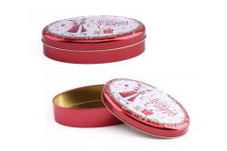 楕円形の金属キャンデーはパッキングお菓子屋のギフトのための菓子の錫ボックスを砂糖で甘くする