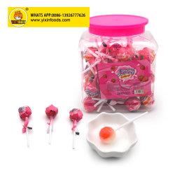 Lollipop di sapore della frutta del bastone del fischio 10g in vaso