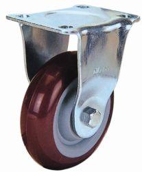 Roulette fixe de Roue Industriels PU (rouge)