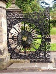 Автоматическая декоративные металлические стальные сад ворота утюг раздвижной дверцы начального уровня