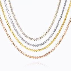 Fabricante de alta calidad al por mayor Collar de acero inoxidable 316 decisiones de la cadena de la Caja Popular Anklet Pulsera hombres Collar Joyas