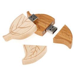Hot Fashion lecteur Flash USB des lames de bois les feuilles des arbres Memory Stick™ USB 2.0 lecteur stylo magnétique de 4Go/8 GB/16GB/32Go de disque U