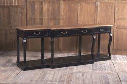Nordic meados do século XIX em clima de mobiliário de carvalho branco e preto Buffet da base de madeira maciça