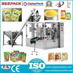 Sachet de poudre d'emballage rotatif de la farine sucre Spice Doypack machine de conditionnement de remplissage
