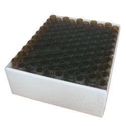 Frascos de vidro âmbar para o laboratório