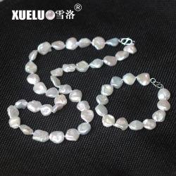 10мм высокое качество небольших природных ресурсов пресной воды Keshi барокко Pearl ожерелье + браслет, ювелирные изделия