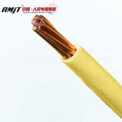 Résistant au feu de base de cuivre sur le fil électrique souple Insualted PVC