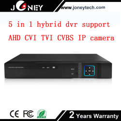 5 в 1 гибридный цифровой видеорегистратор поддержки Ahd Cvi Tvi Cvbs IP-вход камеры