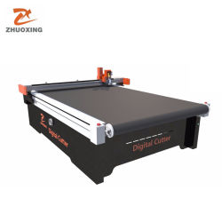 Zhuoxing - Soft Glass/PVC CNC-Schneidmaschine Flexibles Material Flachbett-Digital-Schneidwerk