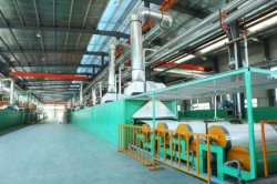 Lijn die van de Deklaag van het Leer van pvc Pu de Synthetische Machine produceren