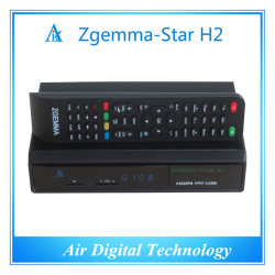 Décodeur TV promotionnel européen Zgemma Star H2 DVB S2 DVB T2