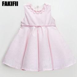 Conçu de la marque ODM Vêtement pour bébé Les enfants de l'usure de l'été Bébé rose robe anniversaire fille de vêtements de coton