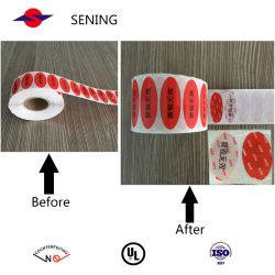 Label voor vervallen beveiliging van volledige overdracht/sticker met veiligheidssticker