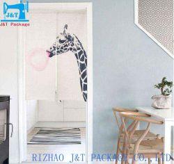 Directamente de fábrica vende Tecido de poliéster algodão personalizáveis estilo japonês impresso decorativas cortinados Bloquear cortinas opacas