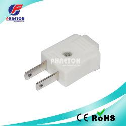 плоская штепсельная вилка 2p для соединения силового кабеля